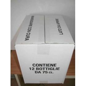 * Scatola bianca Bordolese Standard anonima da  6 Bott. H 300mm (conf. 20 pz)