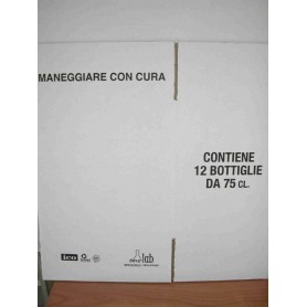 * Scatola Bordolese Standard  anonima bianca da 12 Bott. H 300 mm (conf. 20 pz)