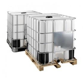Cisternetta 1000 lt per alimenti pedana in  legno trattato