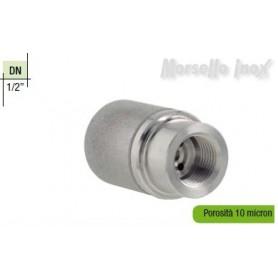 Diffusore in acciaio inox sinterizzato filettato femmina gas DN 1/2