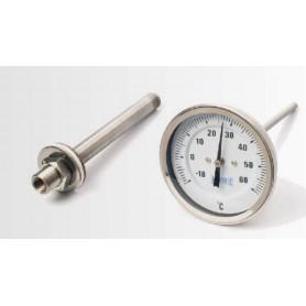 Termometro analogico con pozzetto