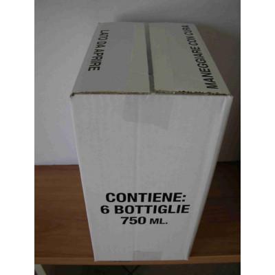 * Scatola Bordolese Europea  anonima bianca da  6 Bott. H 315 mm (Conf. 20 pz)