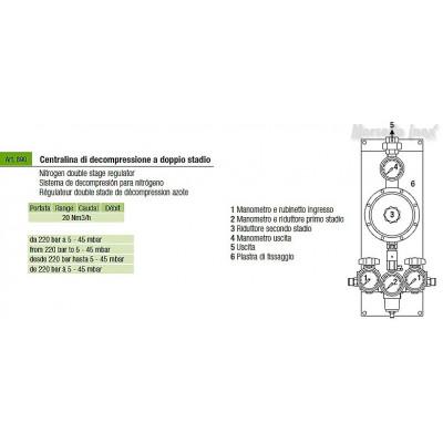 Centralina di decompressione per azoto mc. 20/40 (con carter)