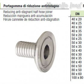 Portagomma di riduzione a morsetto anti ristagno  80x50