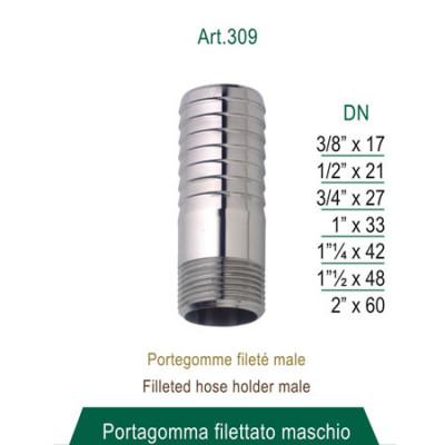 Portagomma filettato maschio 3/4 x 27mm (attacco per sfera di lavaggio)