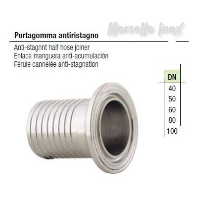 Raccordo  Portagomma A Mors. anti ristagno Dn. 40