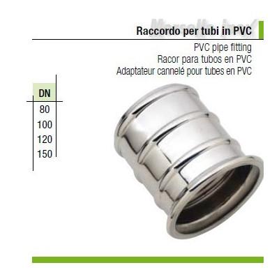 Raccordo a morsetto per tubi in Pvc Dn 80