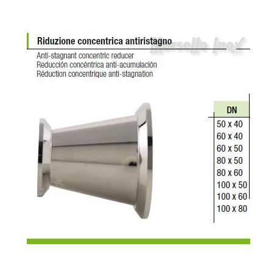 Riduzione  concentrica a mors anti ristagno 60x40