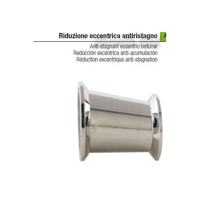 Riduzione  eccentrica a mors anti ristagno 100x50