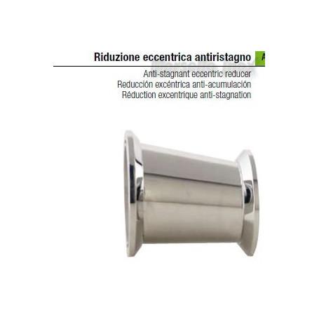 Riduzione  eccentrica a mors anti ristagno 100x80