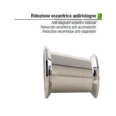 Riduzione  eccentrica a mors anti ristagno 80x50