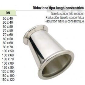 Riduzione a Morsetto 150x120 tipo lungo