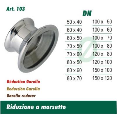 Riduzione A Morsetto 60x50