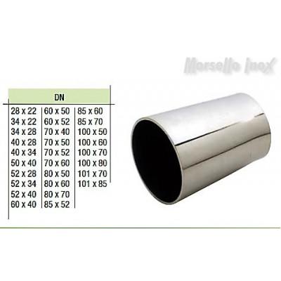 Riduzione concentrica a saldare a mm. 52x34x1,5