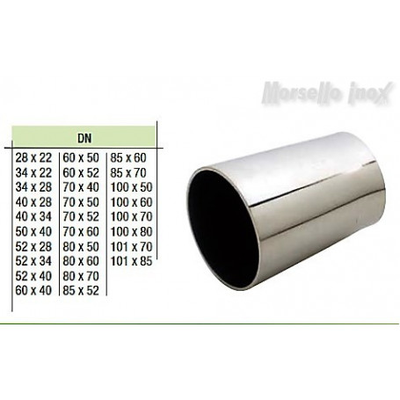 Riduzione concentrica a saldare a mm. 70X40x2,0