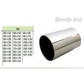Riduzione concentrica a saldare a mm. 80X52x2,0