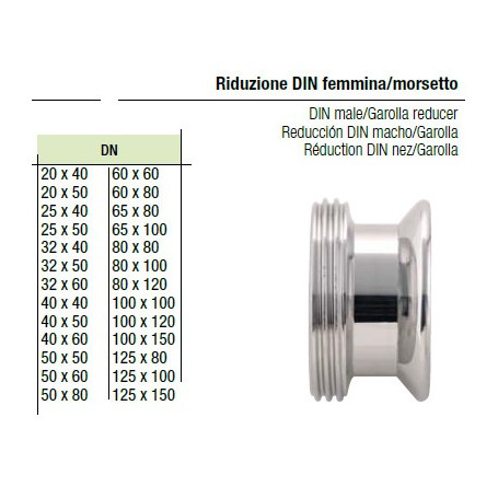 Riduzione Din Femmina/Mors. 40x40