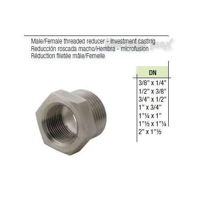 Riduzione fil. gas maschio femmina  DN 11/42x11/4