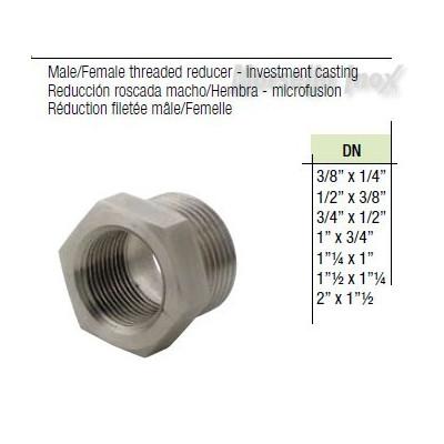 Riduzione fil. gas maschio femmina  DN 3/4x1/2