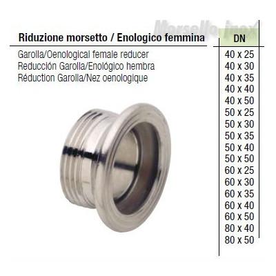 Riduzione mors. enologico femmina Dn. 80x40