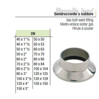 Semiraccordo A Saldare 100x104