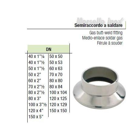 Semiraccordo A Saldare 50x53