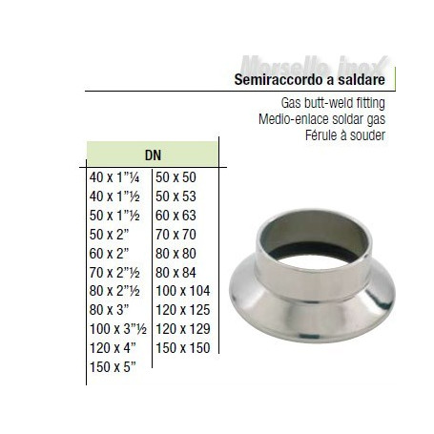 Semiraccordo A Saldare 80x21/2