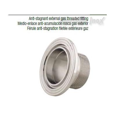 Semiraccordo filettato esterno a mors. anti ristagno 40x11/4