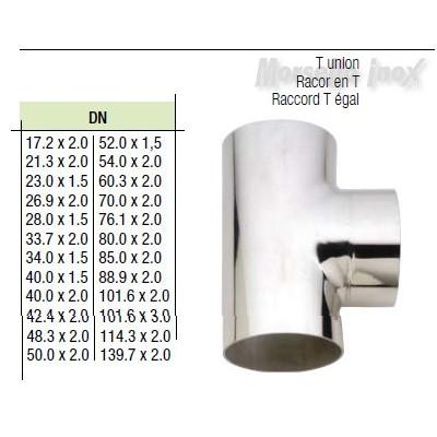 Tee a saldare 33,7x2,0