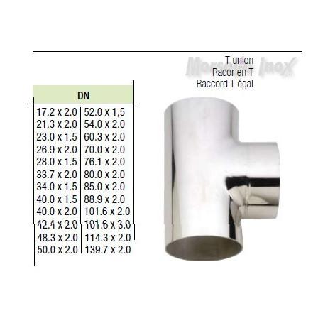 Tee a saldare 48,3x2,0