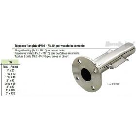 Trapasso per vasche in cemento flangiato  PN.10 Dn 11/4x32