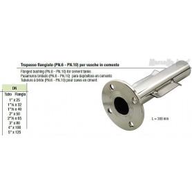 Trapasso per vasche in cemento flangiato  PN.6 Dn 21/2x65