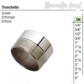 Tronchetto filettato gas Dn 1