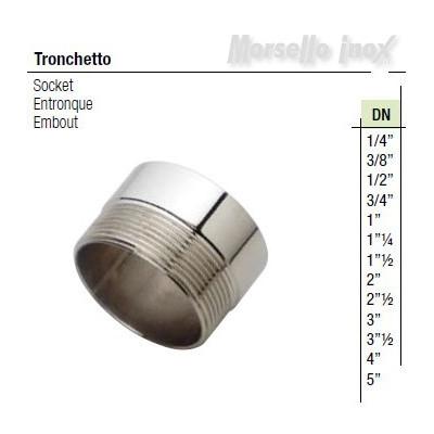 Tronchetto filettato gas Dn 4