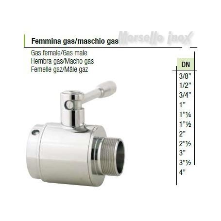Valvola a sfera femmina gas maschio gas  DN 4 normal