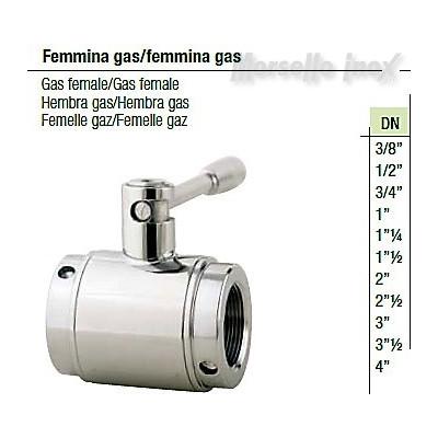Valvola a sfera femmina gas/femmina gas DN 3 Plus