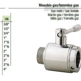 Valvola a sfera maschio gas femmina gas  DN 11/2  plus