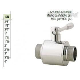 Valvola a sfera maschio gas maschio gas  DN 11/4  Plus