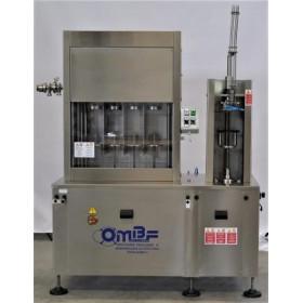 Monoblocco semiautomatico Riempitrice isobarica + Tappatore corona